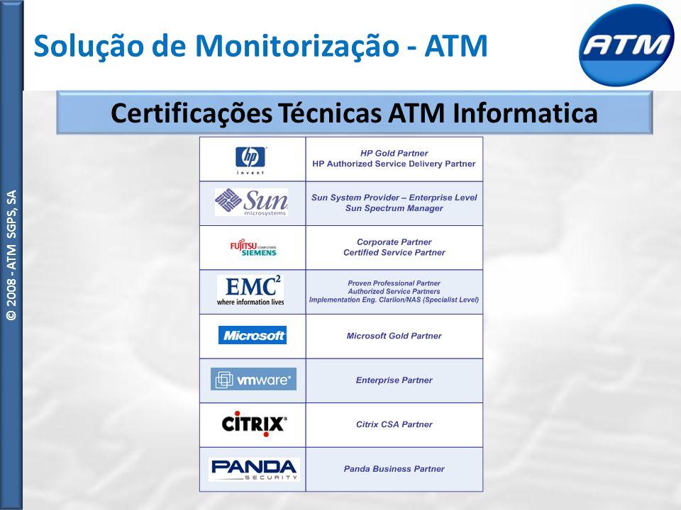 Certificações Técnicas ATM Informatica
