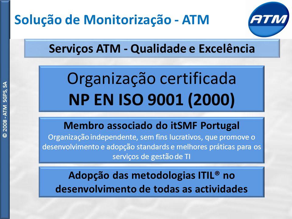 Organização certificada NP EN ISO 9001 (2000)