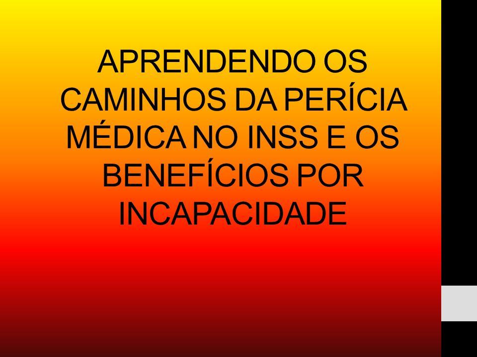 APRENDENDO OS CAMINHOS DA PERÍCIA MÉDICA NO INSS E OS BENEFÍCIOS POR INCAPACIDADE