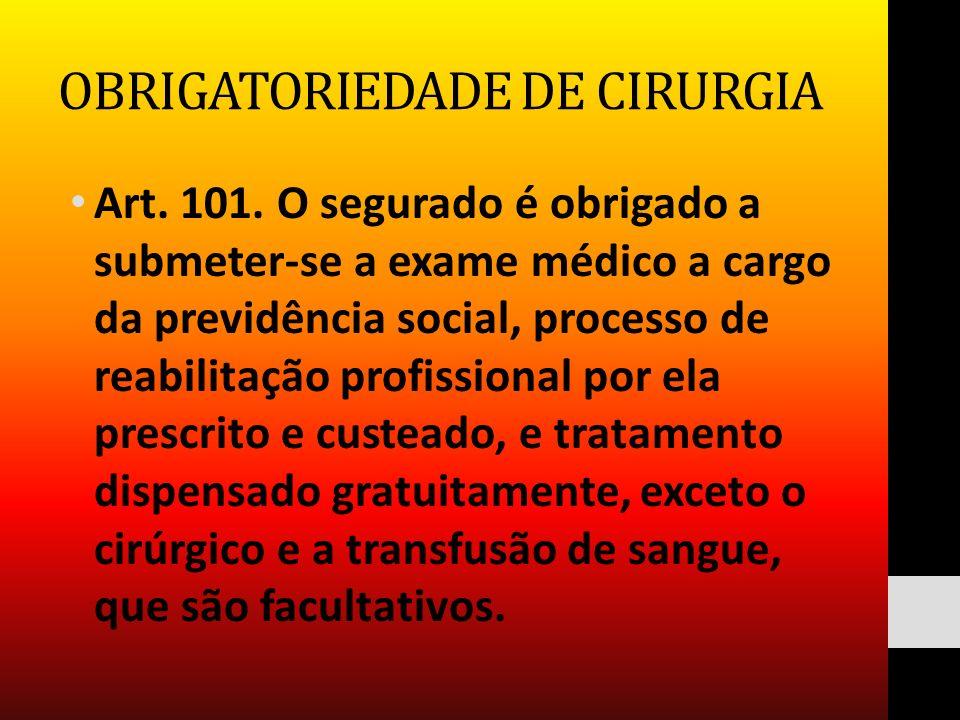 OBRIGATORIEDADE DE CIRURGIA
