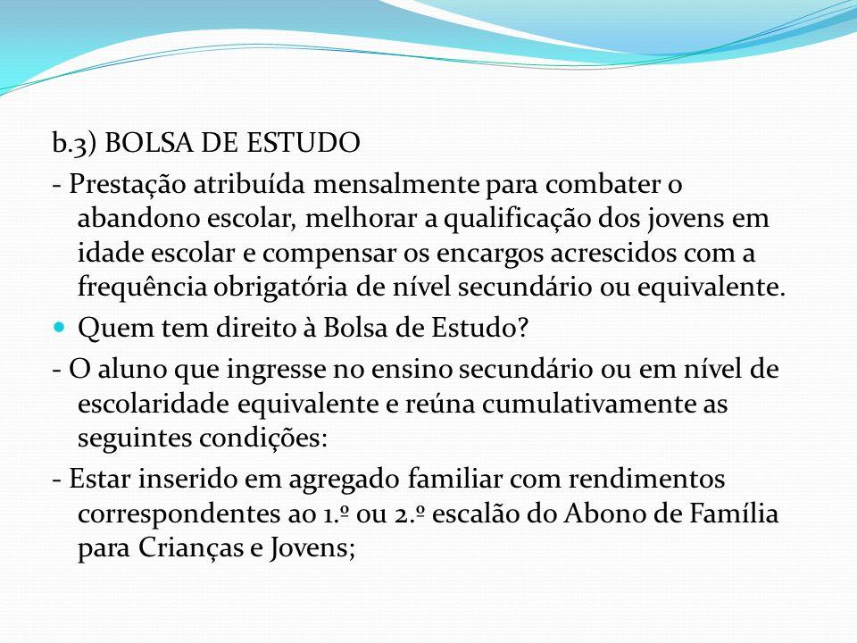 b.3) BOLSA DE ESTUDO