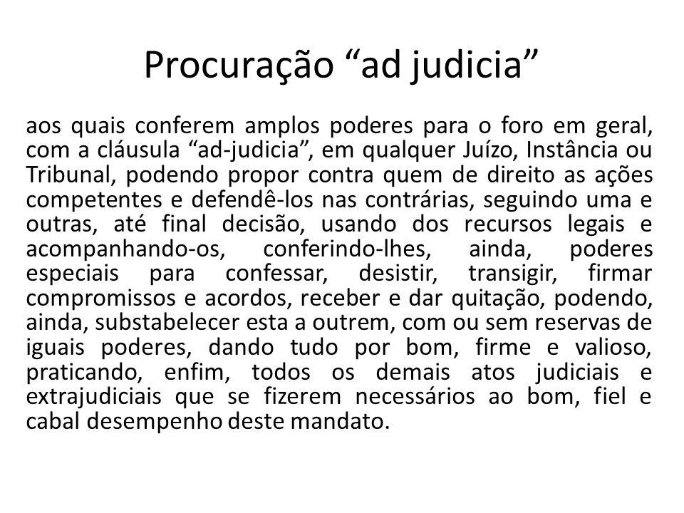 Procuração ad judicia
