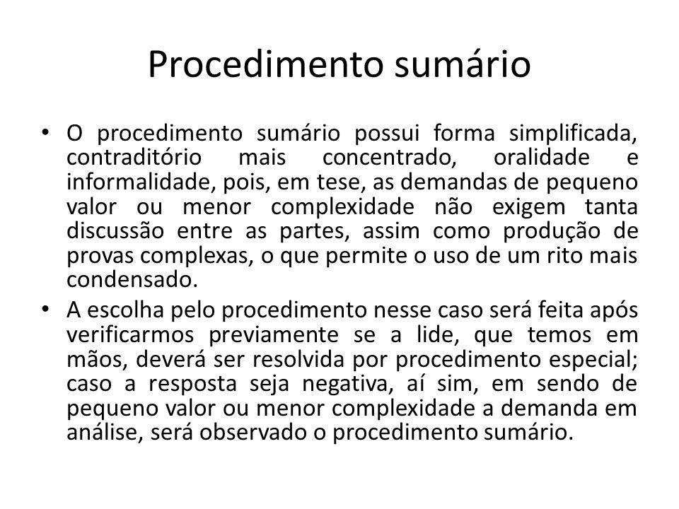 Procedimento sumário