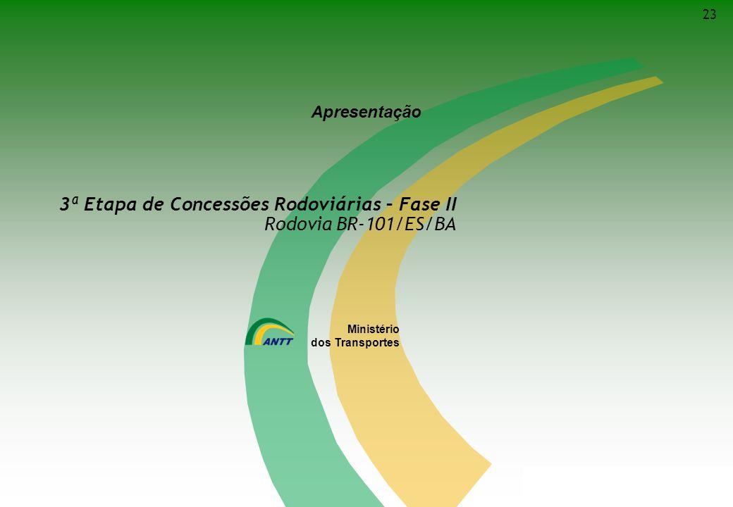 3ª Etapa de Concessões Rodoviárias – Fase II Rodovia BR-101/ES/BA