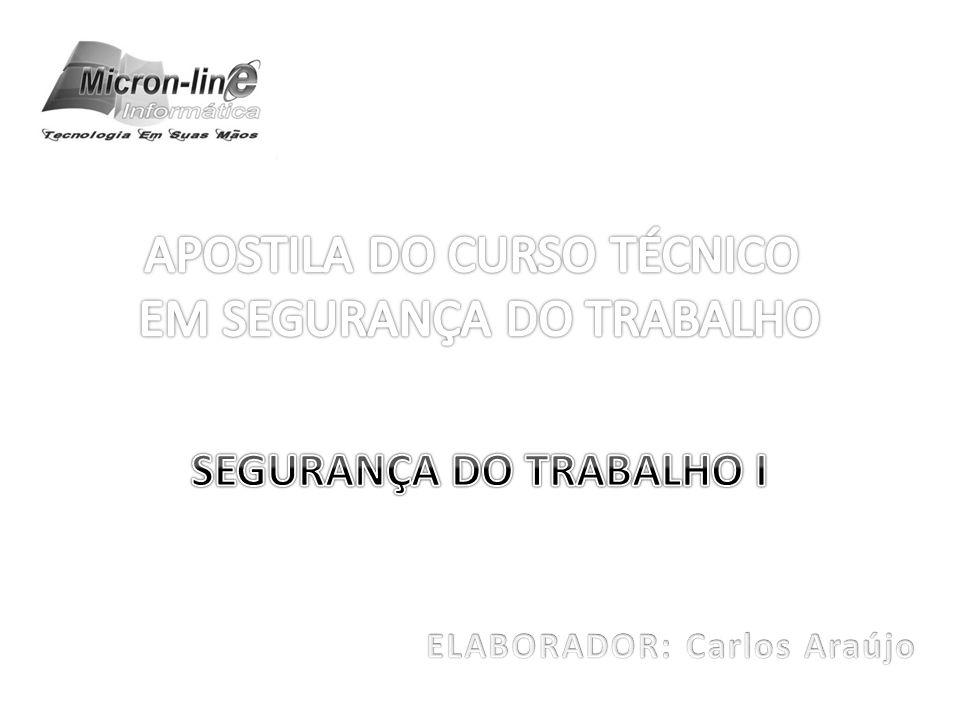 SEGURANÇA DO TRABALHO I ELABORADOR: Carlos Araújo