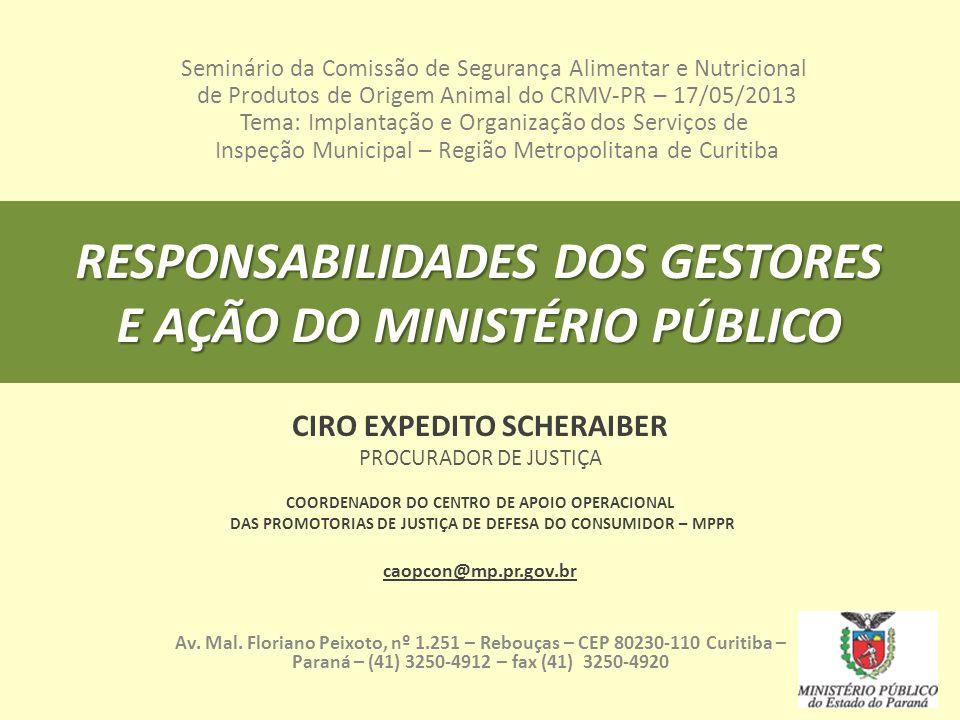 RESPONSABILIDADES DOS GESTORES E AÇÃO DO MINISTÉRIO PÚBLICO