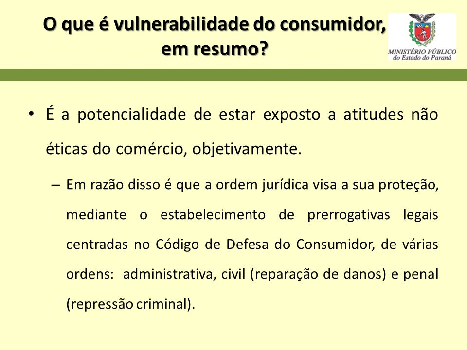O que é vulnerabilidade do consumidor, em resumo