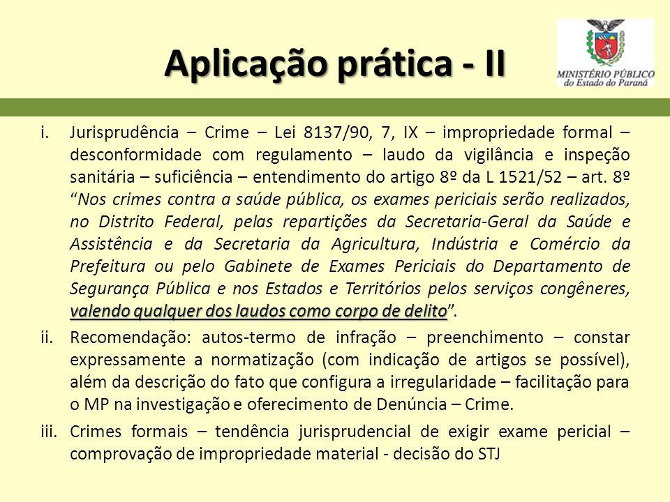 Aplicação prática - II