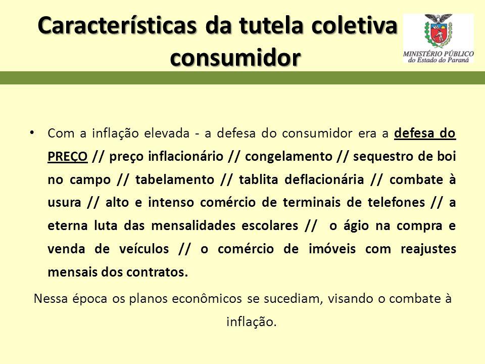 Características da tutela coletiva do consumidor