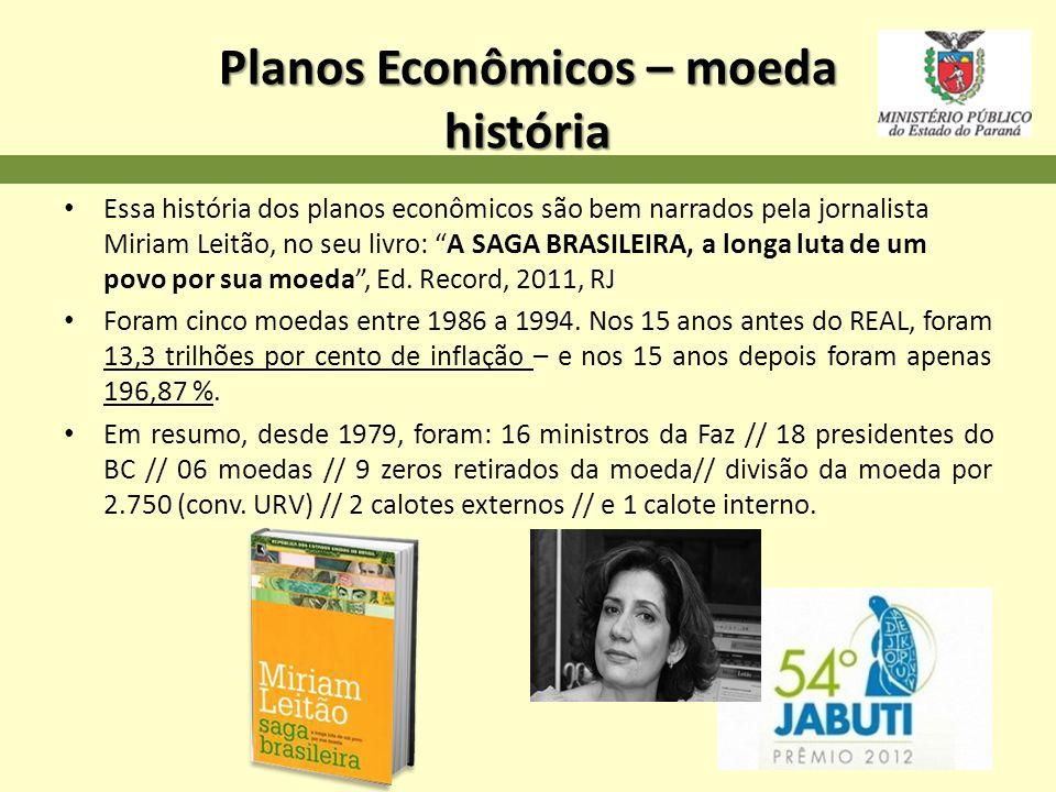 Planos Econômicos – moeda história