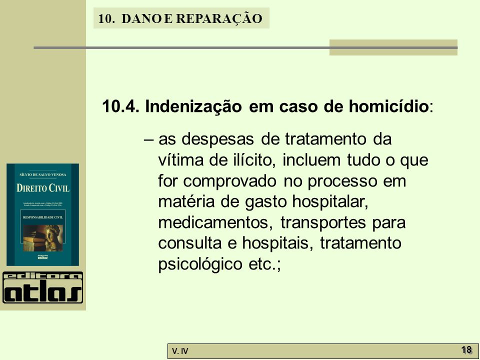 10.4. Indenização em caso de homicídio: