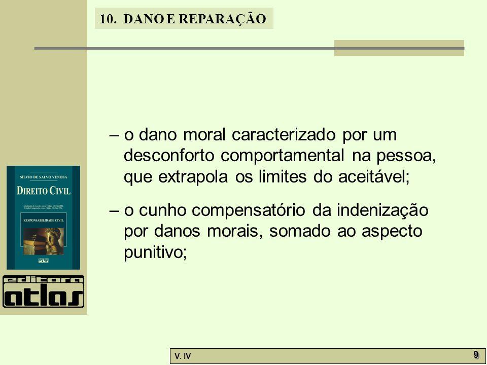 – o dano moral caracterizado por um desconforto comportamental na pessoa, que extrapola os limites do aceitável;