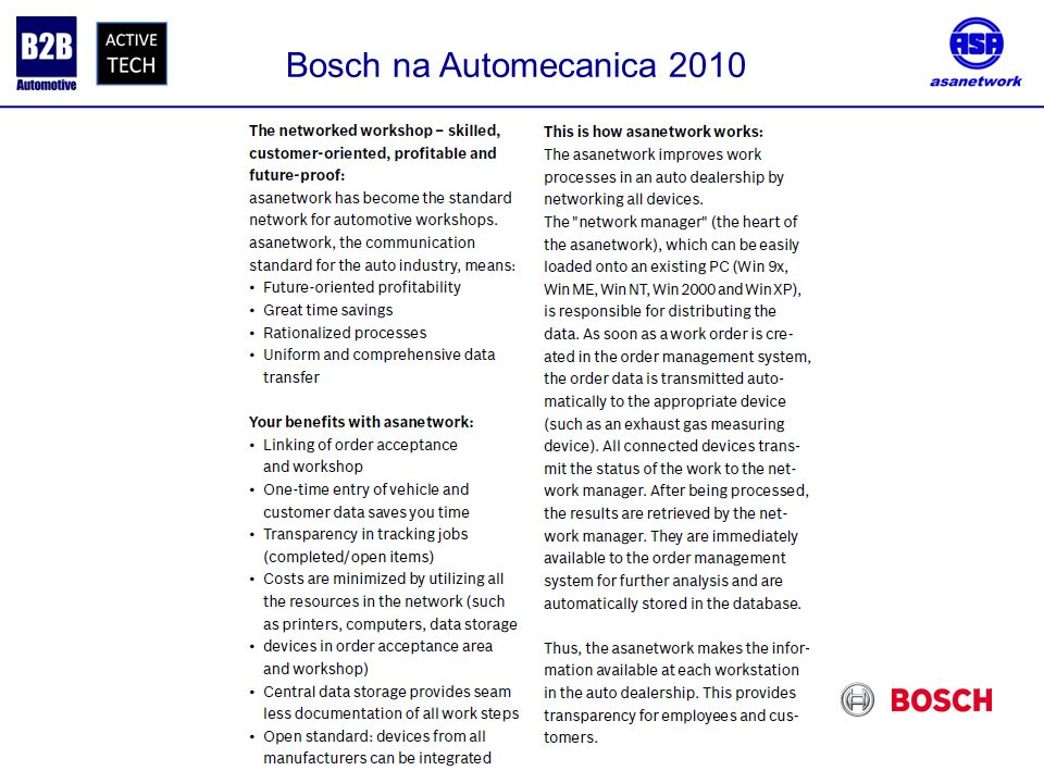Bosch na Automecanica 2010 .