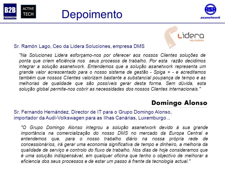 Depoimento Sr. Ramón Lago, Ceo da Lidera Soluciones, empresa DMS