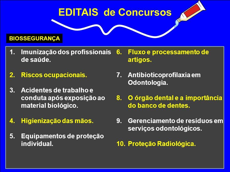 EDITAIS de Concursos Imunização dos profissionais de saúde.