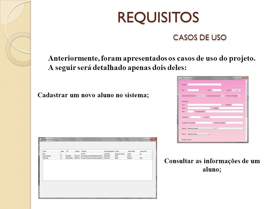 REQUISITOS CASOS DE USO