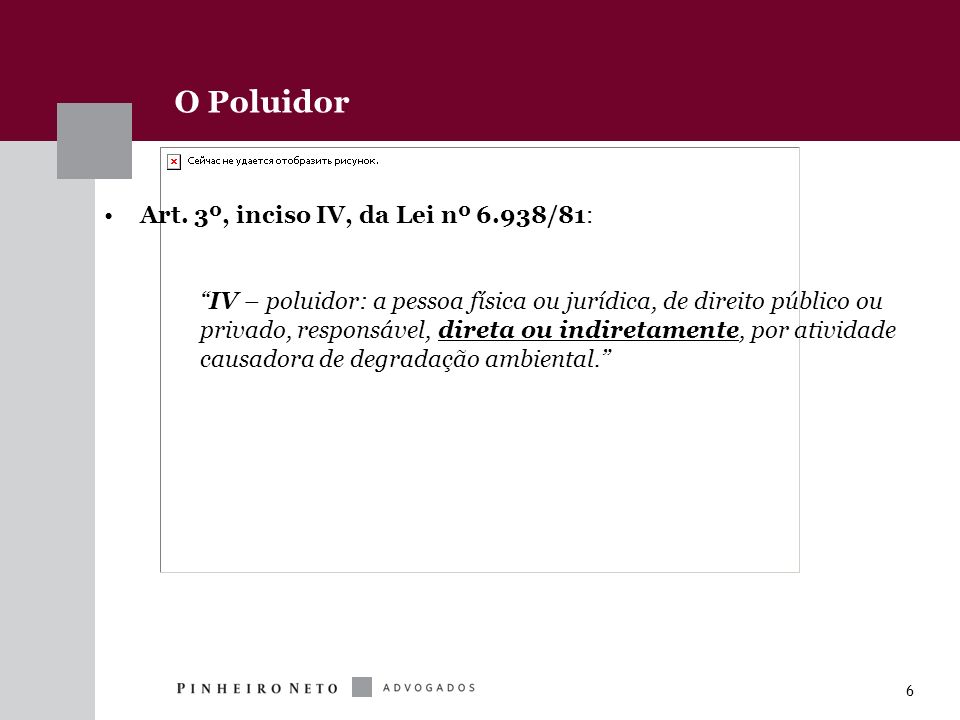 O Poluidor Art. 3º, inciso IV, da Lei nº 6.938/81: