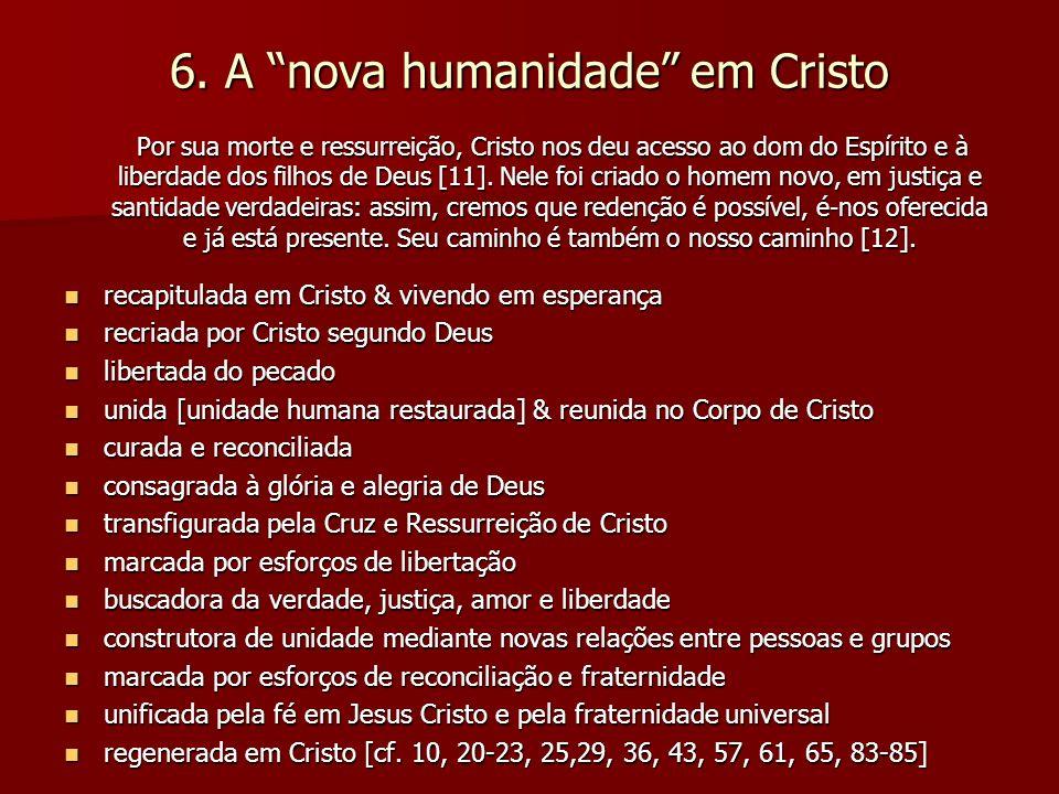 6. A nova humanidade em Cristo