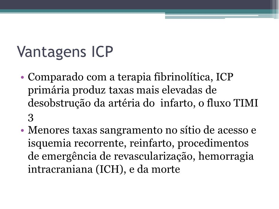 Vantagens ICP