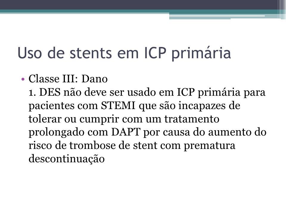 Uso de stents em ICP primária