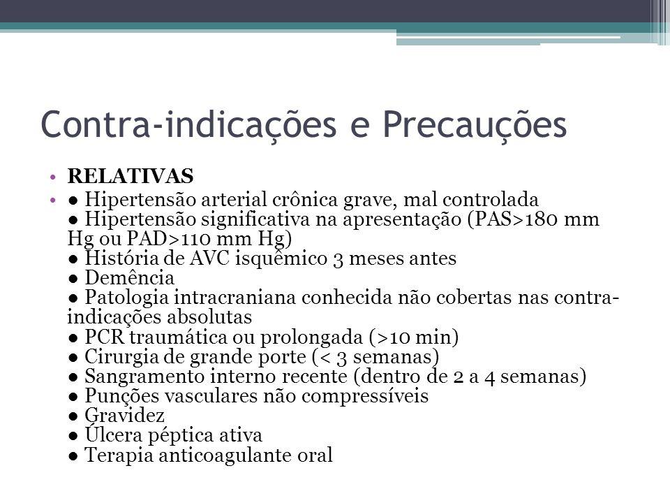 Contra-indicações e Precauções