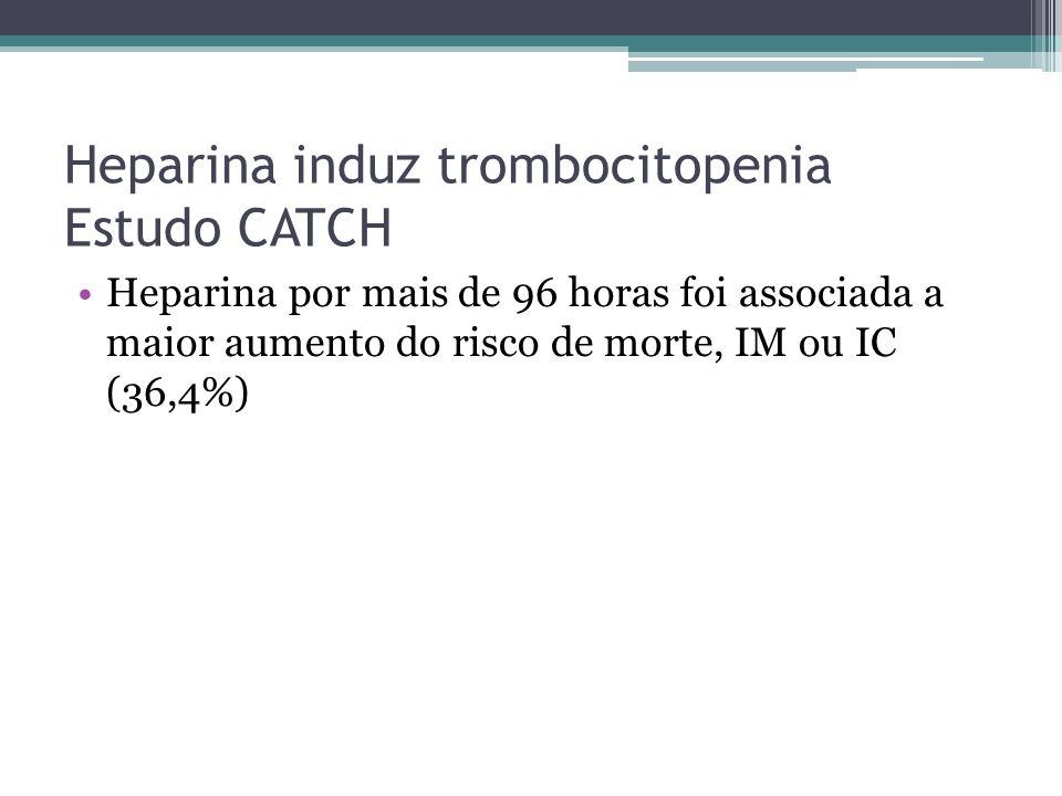 Heparina induz trombocitopenia Estudo CATCH