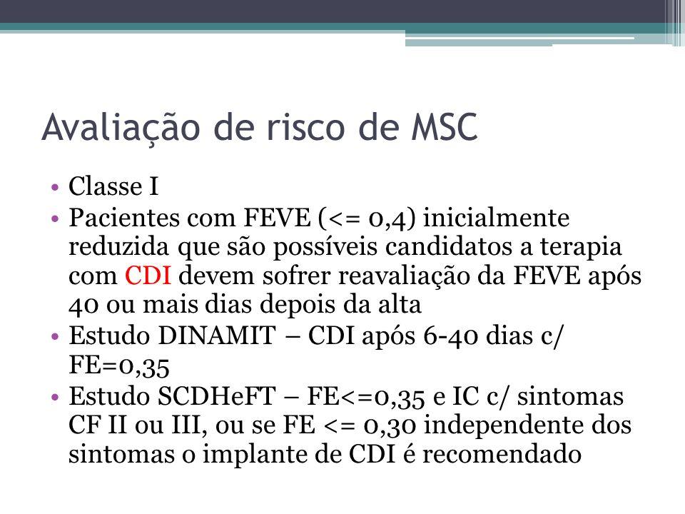 Avaliação de risco de MSC