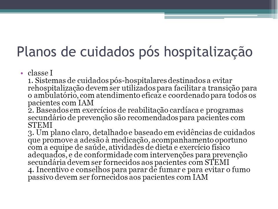 Planos de cuidados pós hospitalização