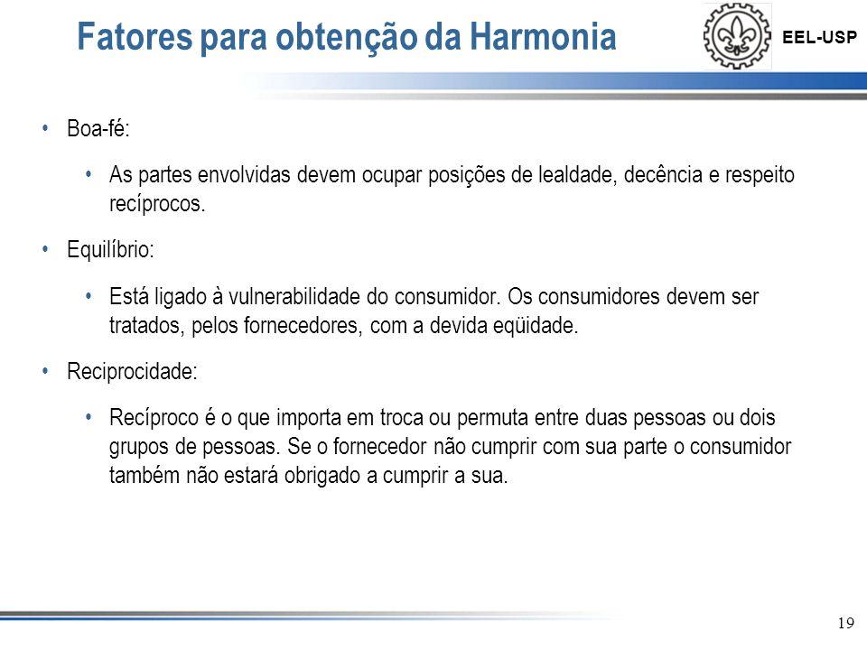 Fatores para obtenção da Harmonia