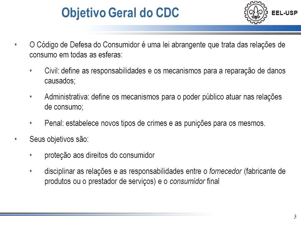Objetivo Geral do CDC O Código de Defesa do Consumidor é uma lei abrangente que trata das relações de consumo em todas as esferas: