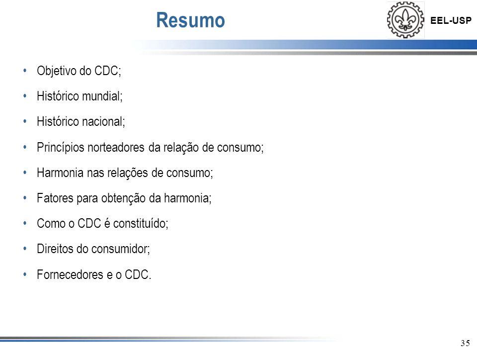 Resumo Objetivo do CDC; Histórico mundial; Histórico nacional;
