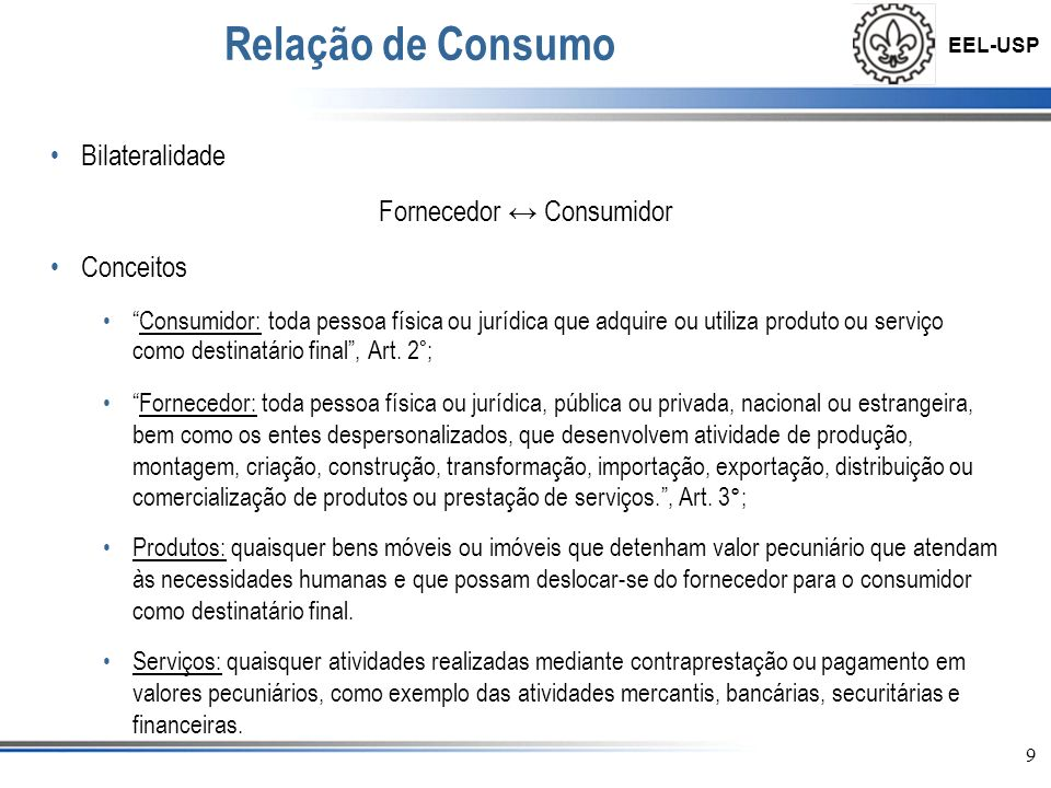 Fornecedor ↔ Consumidor