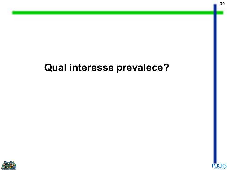Qual interesse prevalece
