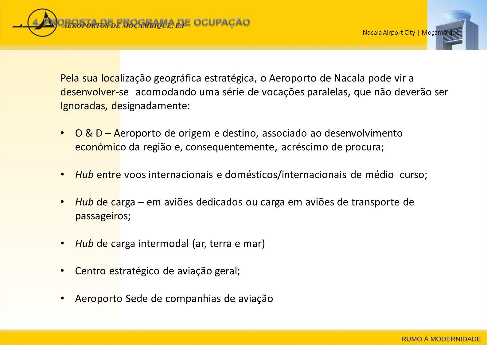 Hub de carga intermodal (ar, terra e mar)