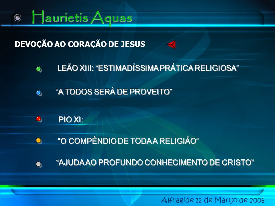Haurietis Aquas DEVOÇÃO AO CORAÇÃO DE JESUS