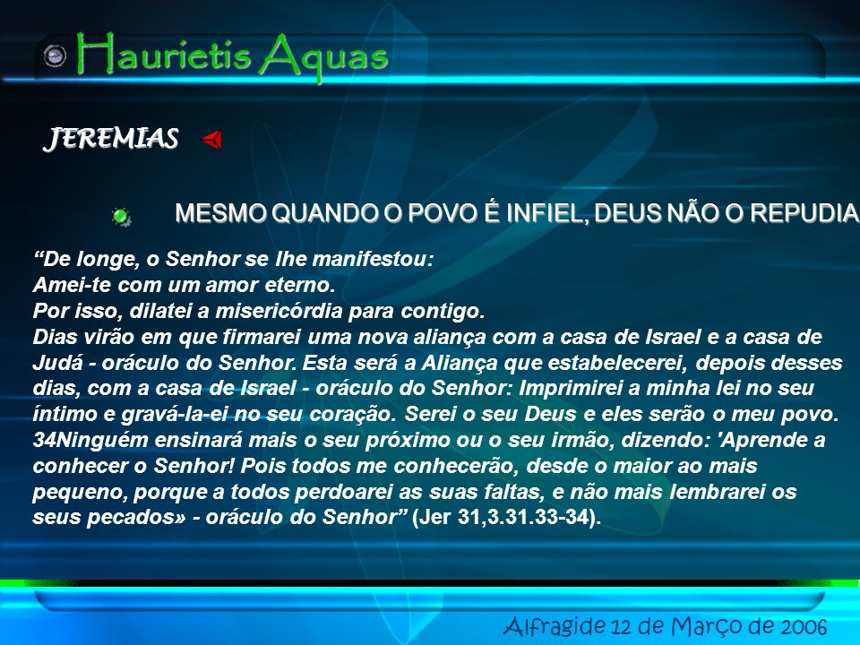 Haurietis Aquas JEREMIAS