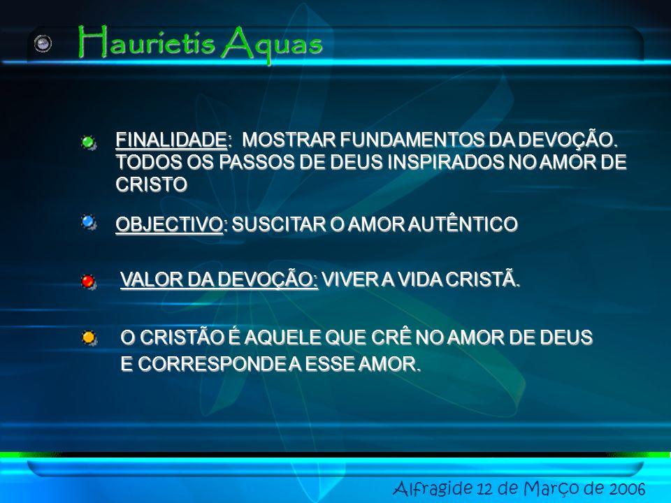 Haurietis Aquas FINALIDADE: MOSTRAR FUNDAMENTOS DA DEVOÇÃO.