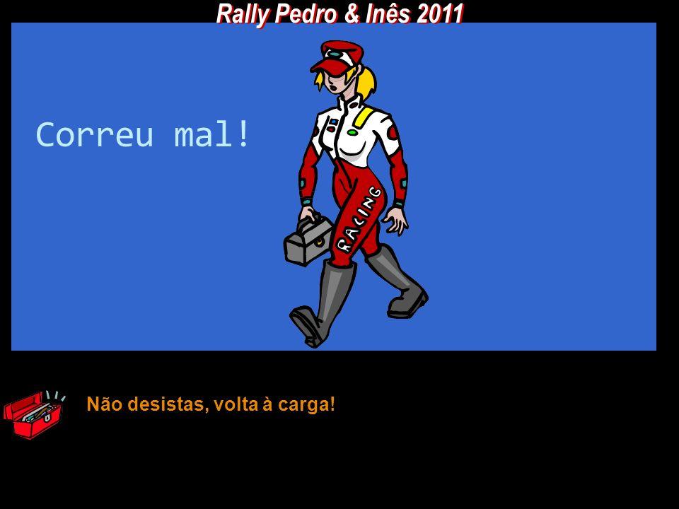 Rally Pedro & Inês 2011 Correu mal! Não desistas, volta à carga!