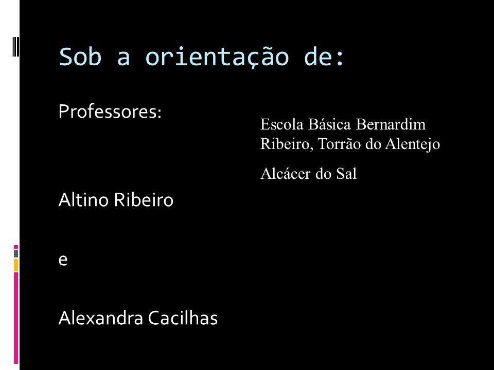 Sob a orientação de: Professores: Altino Ribeiro e Alexandra Cacilhas