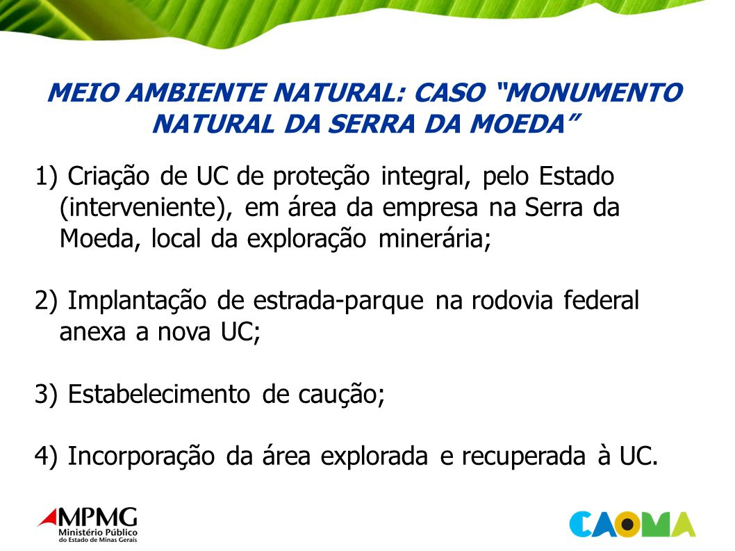 MEIO AMBIENTE NATURAL: CASO MONUMENTO NATURAL DA SERRA DA MOEDA