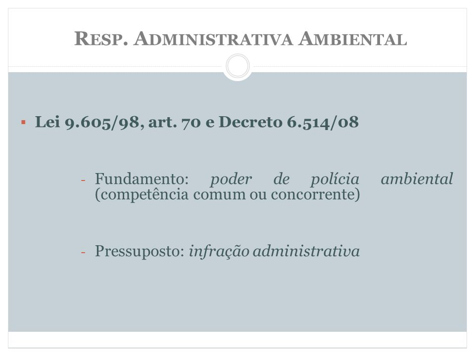 Resp. Administrativa Ambiental