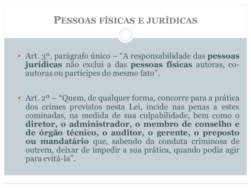 Pessoas físicas e jurídicas
