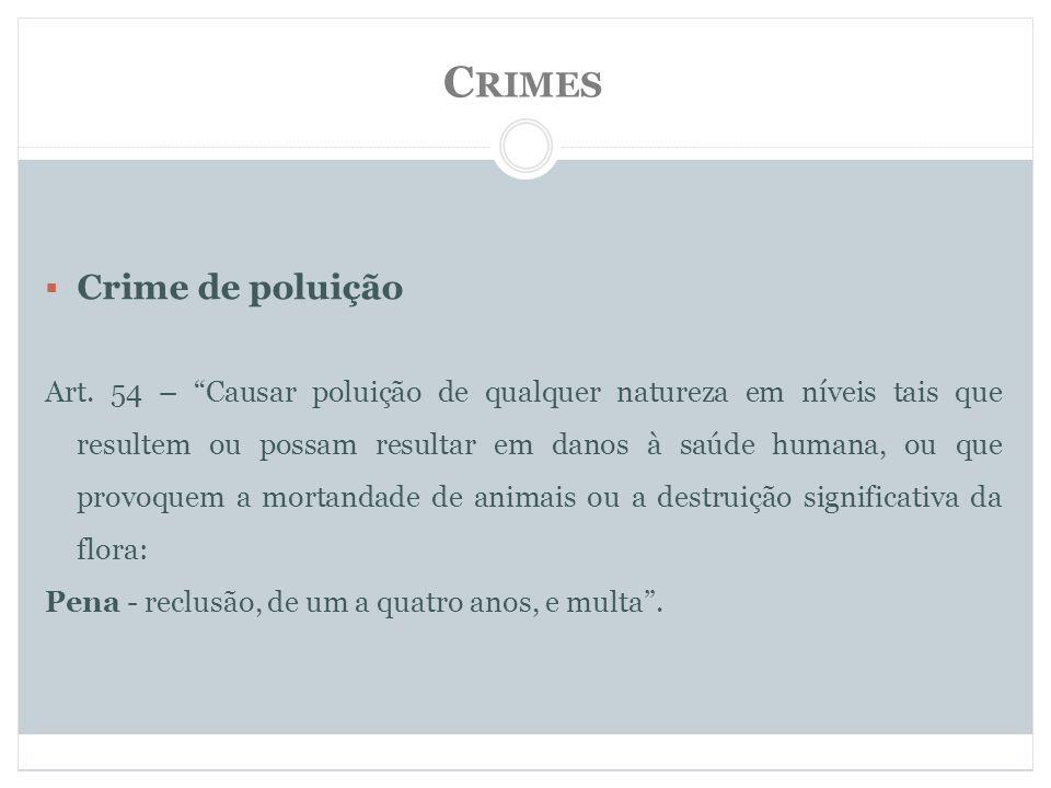 Crimes Crime de poluição