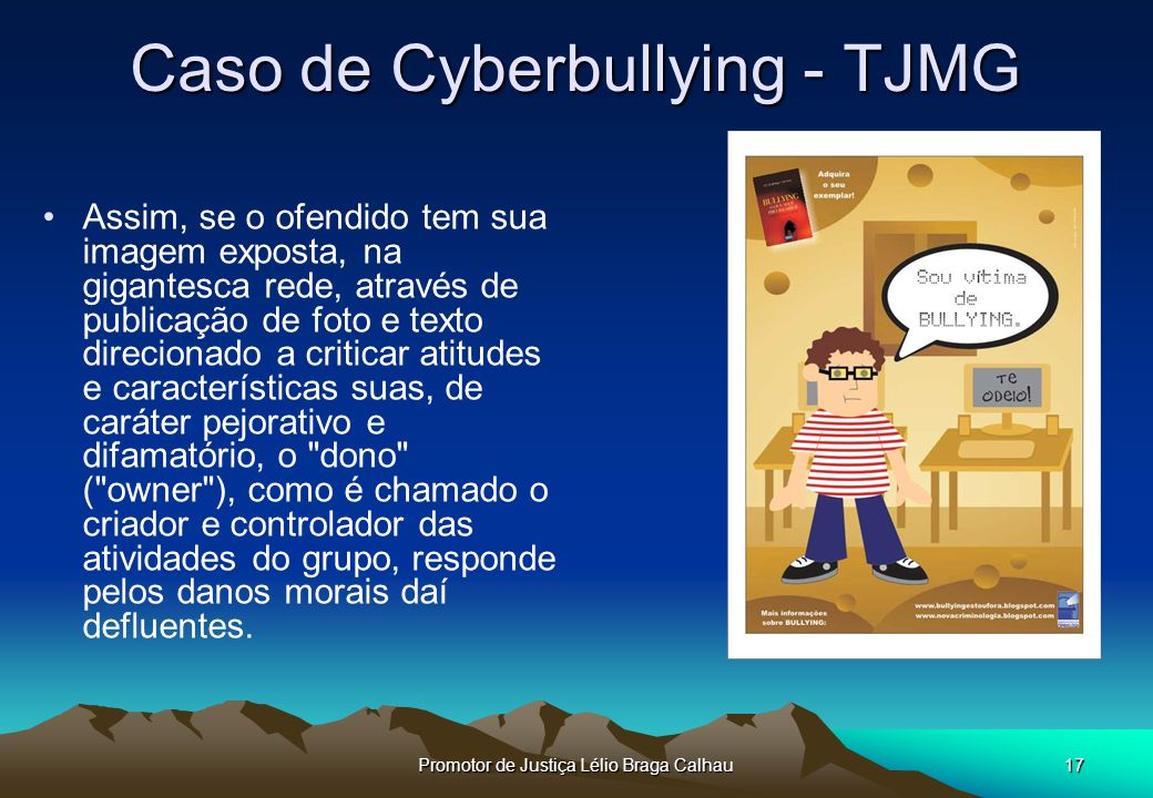 Caso de Cyberbullying - TJMG