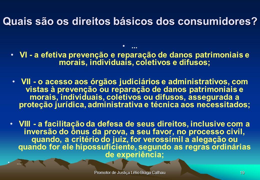 Quais são os direitos básicos dos consumidores