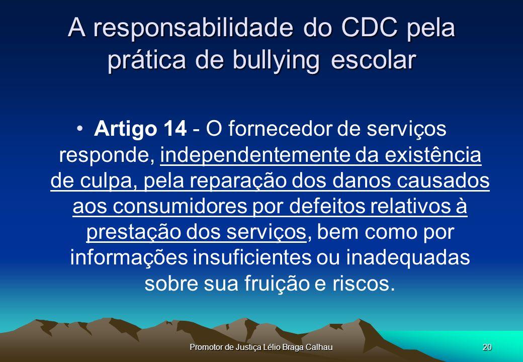 A responsabilidade do CDC pela prática de bullying escolar