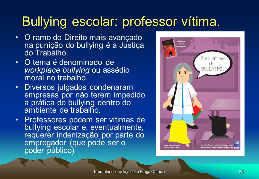 Bullying escolar: professor vítima.
