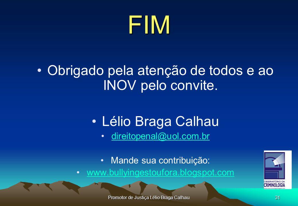 FIM Obrigado pela atenção de todos e ao INOV pelo convite.