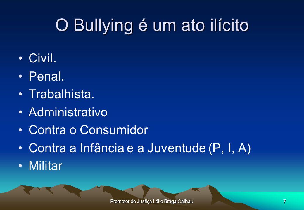 O Bullying é um ato ilícito
