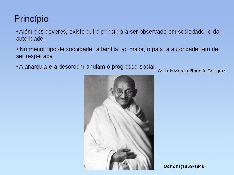 Princípio Além dos deveres, existe outro princípio a ser observado em sociedade: o da autoridade.